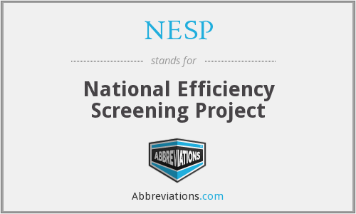 What does NESP stand for?