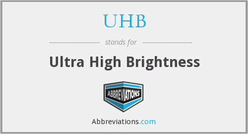 What does UHB stand for?