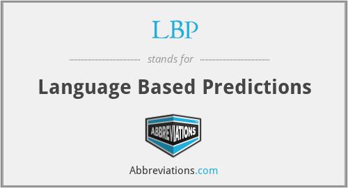 LBP - Language Based Predictions