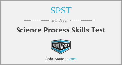 SPST - Science Process Skills Test
