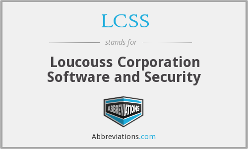 LCSS - Loucouss Corporation Software and Security