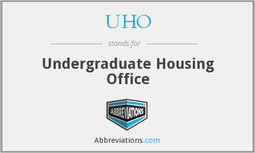 UHO - Undergraduate Housing Office