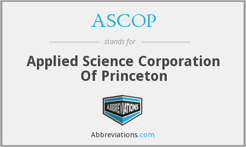 What does ASCOP stand for?