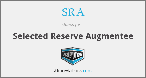 SRA - Selected Reserve Augmentee