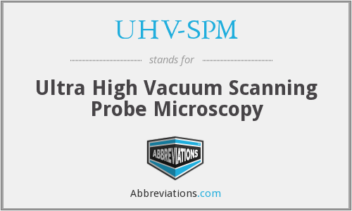 What does UHV-SPM stand for?