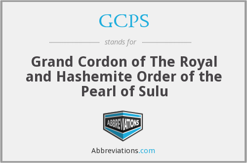 GCPS - Grand Cordon of The Royal and Hashemite Order of the Pearl of Sulu