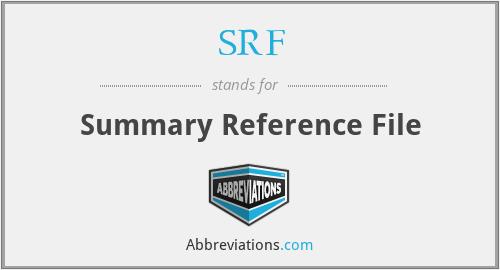 SRF - Summary Reference File
