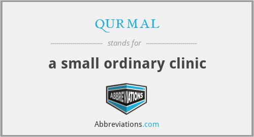 qurmal - a small ordinary clinic