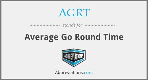 AGRT - Average Go Round Time