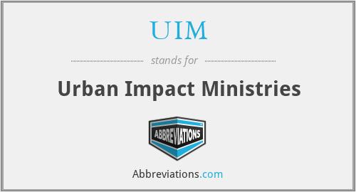 UIM - Urban Impact Ministries