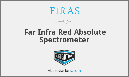 What does FIRAS stand for?