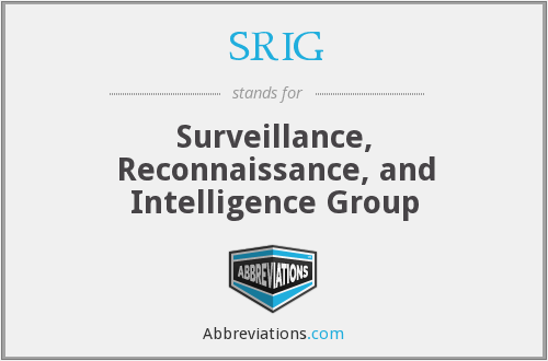 What does SRIG stand for?