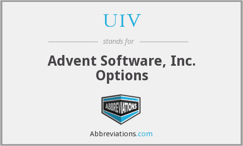 UIV - Advent Software, Inc. Options