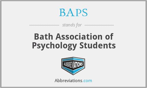 BAPS - Bath Association of Psychology Students