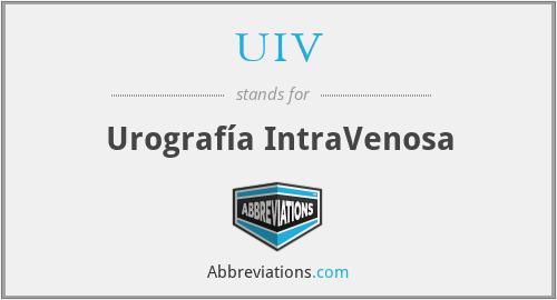 UIV - Urografía IntraVenosa
