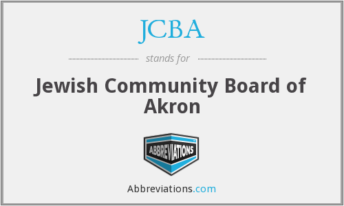 JCBA - Jewish Community Board of Akron