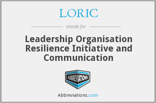 LORIC - Leadership Organisation Resilience Initiative and Communication