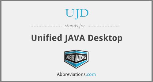 UJD - Unified JAVA Desktop