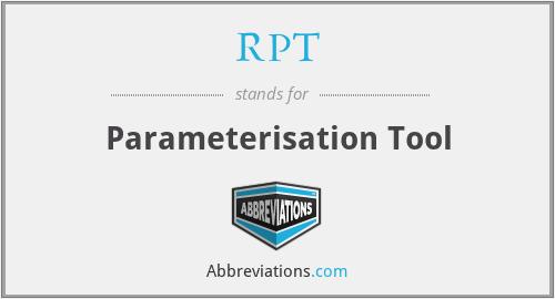RPT - Parameterisation Tool