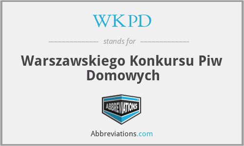 WKPD - Warszawskiego Konkursu Piw Domowych