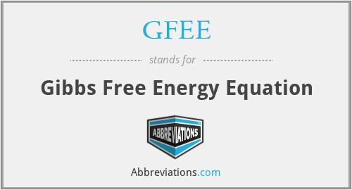 GFEE - Gibbs Free Energy Equation