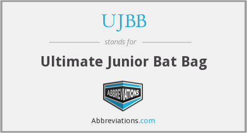 UJBB - Ultimate Junior Bat Bag