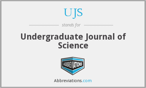 UJS - Undergraduate Journal of Science