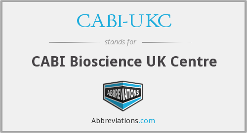What does CABI-UKC stand for?