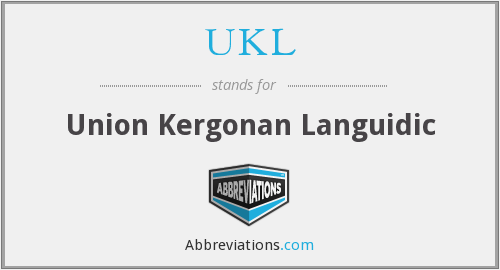 UKL - Union Kergonan Languidic