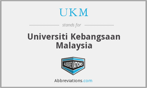 What does UKM stand for?
