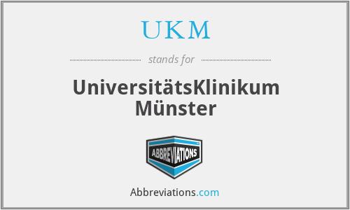 UKM - UniversitätsKlinikum Münster