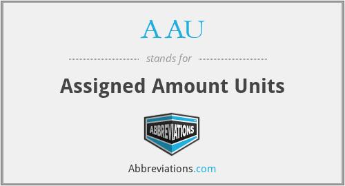 AAU - Assigned Amount Units