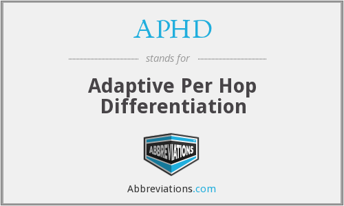 What does APHD stand for?