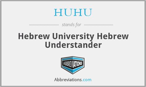 HUHU - Hebrew University Hebrew Understander