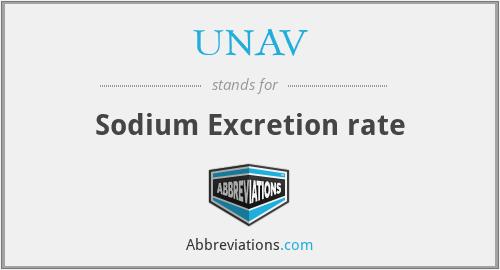 UNAV - Sodium Excretion rate