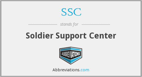 SSC - Soldier Support Center