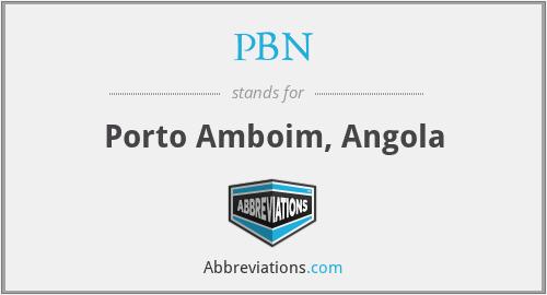 PBN - Porto Amboim, Angola