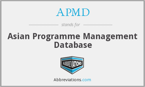 APMD - Asian Programme Management Database