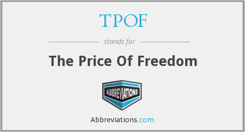 What does TPOF stand for?