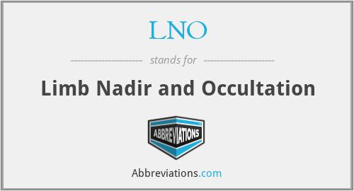 LNO - Limb Nadir and Occultation