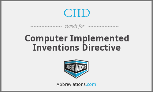 CIID - Computer Implemented Inventions Directive