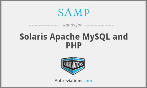 SAMP - Solaris Apache MySQL and PHP