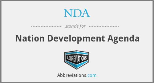 NDA - Nation Development Agenda