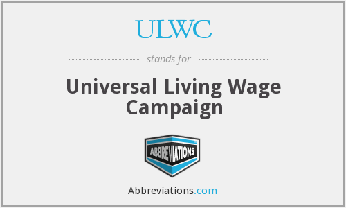 ULWC - Universal Living Wage Campaign