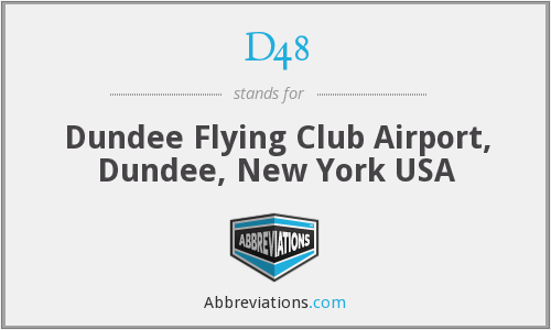 D48 - Dundee Flying Club Airport, Dundee, New York USA
