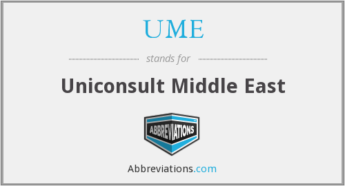 UME - Uniconsult Middle East