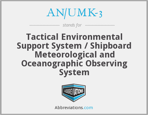 AN/UMK-3 - Tactical Environmental Support System / Shipboard Meteorological and Oceanographic Observing System