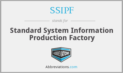 What does SSIPF stand for?