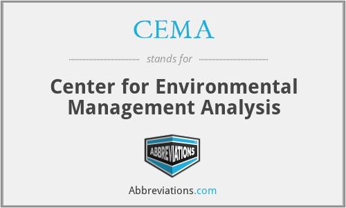 CEMA - Center for Environmental Management Analysis