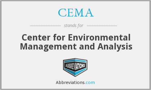 CEMA - Center for Environmental Management and Analysis